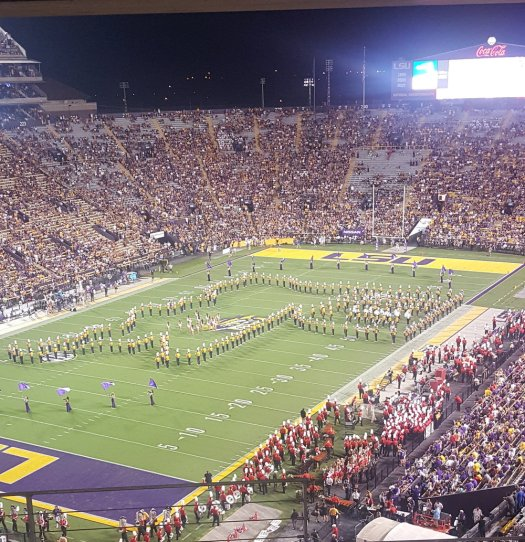 THE LSU Marching Band did a great job honoring recent Baton Rouge and Lousiana flood victims.